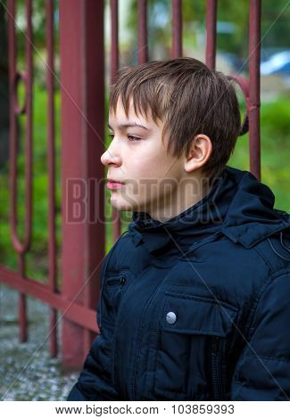 Pensive Teenager Outdoor