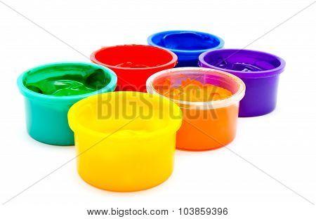 Children Finger Paint Isolated