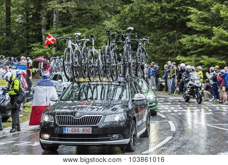 The Car Of Trek Factory Racing Team - Tour De France 2014