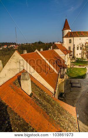 Roofs Of Krivoklat Castle-czech Republic,europe