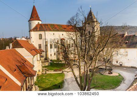 Krivoklat Castle Courtyard-czech Republic,europe