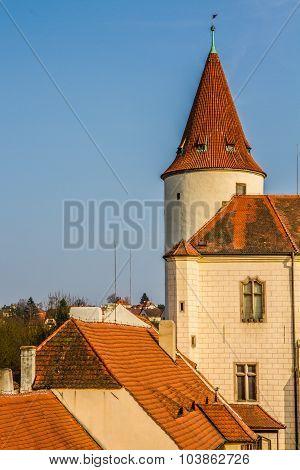 Tower Of Krivoklat Castle-czech Republic,europe