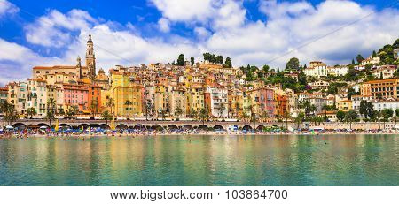 colorful Menton - holidays in south of France