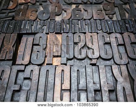 Vintage Letterpress Type Printing Blocks