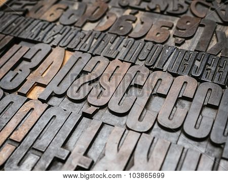 Vintage Letterpress Type Printing Blocks