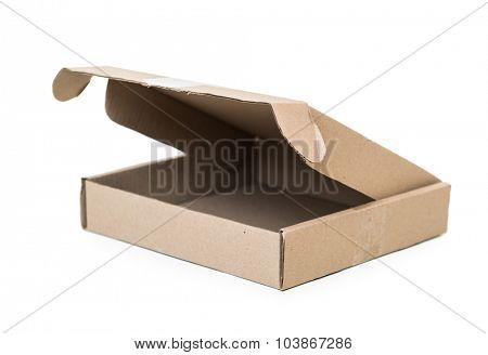 Cardboard box on white background isolated