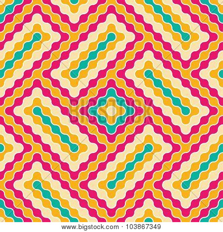 Vector Modern Seamless Colorful Geometry Pattern Wavy