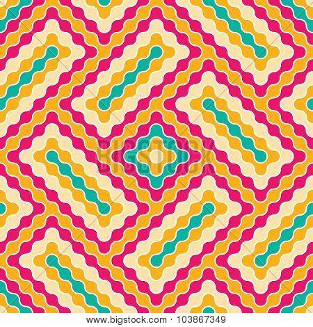 Vector Modern Seamless Colorful Geometry Pattern Wavy