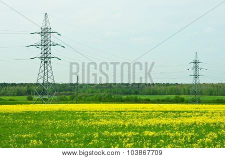 Two power transmission towers
