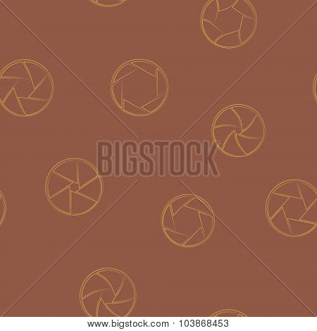 Seamless background with camera shutter symbols