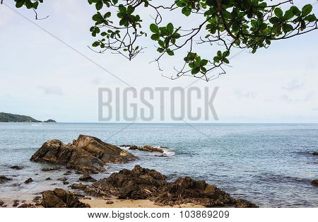 Beach And Blue Sea, Phuket Thailand
