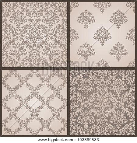 Baroque Seamless Pattern. Damask background.