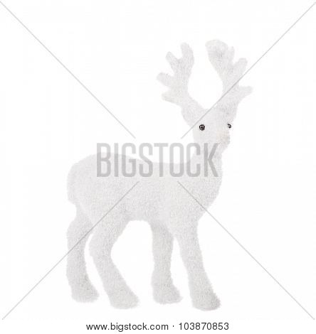light deer toy isolated on white background