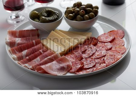 Antipasto on a table