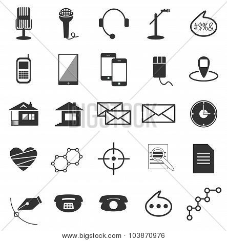 Black vector icons