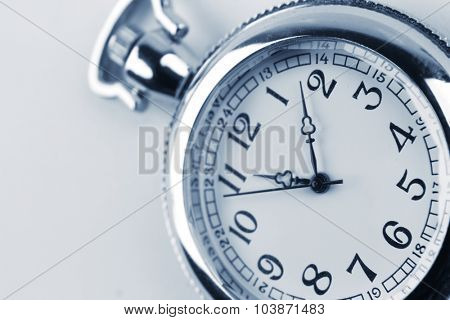 Closeup of old pocket watch