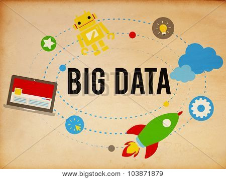 Big Data Database Storage Analysis Security Concept