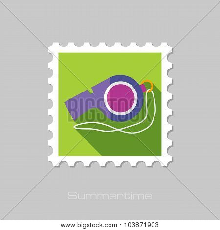 Whistle flat stamp with long shadow