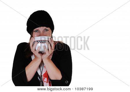 Girl Drinking Tee.