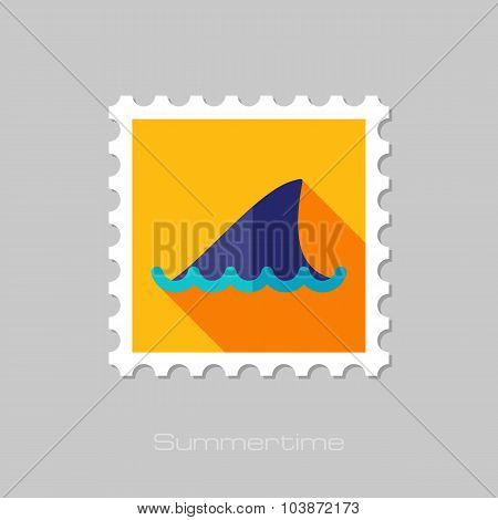 Shark fin flat stamp with long shadow