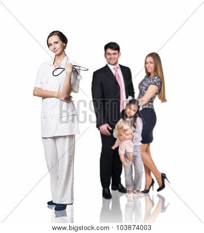 Family at the doctor appointment