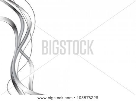 Abstract metal waves design. Vector background