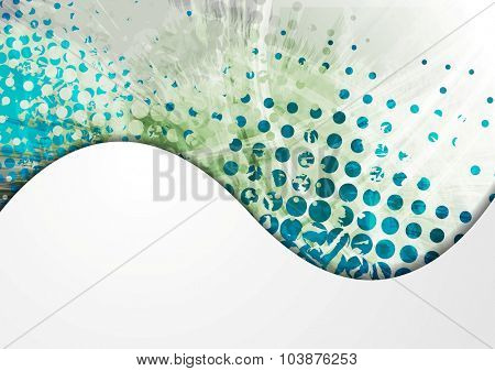 Grunge abstract wavy vector bright design