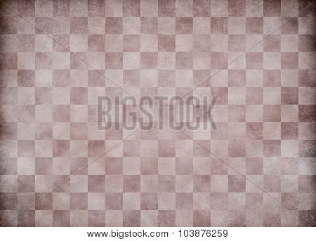 Beige old checkered paper background