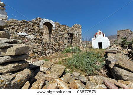 Ancient Fortress, island of Mykonos, Cyclades Islands