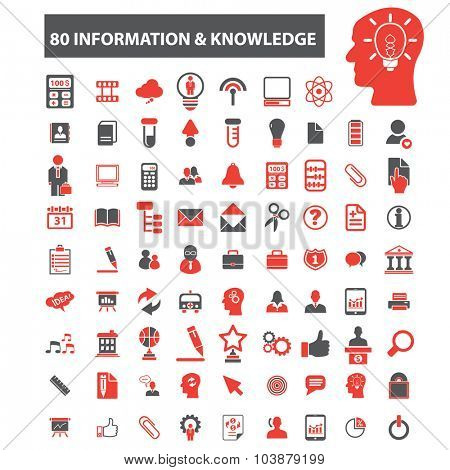 40 information knowledge icons