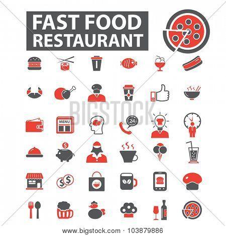 fast food restaurant icons