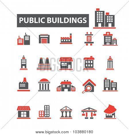 public buildings icons