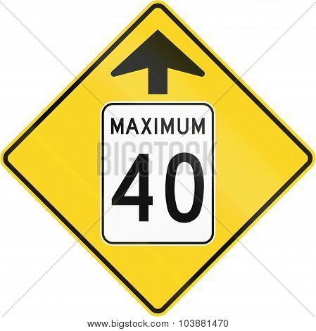 Speed Limit 40 Ahead In Canada