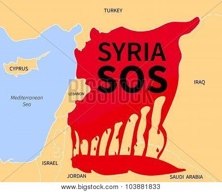 Syria Crisis Sos. Refugee. War Victims