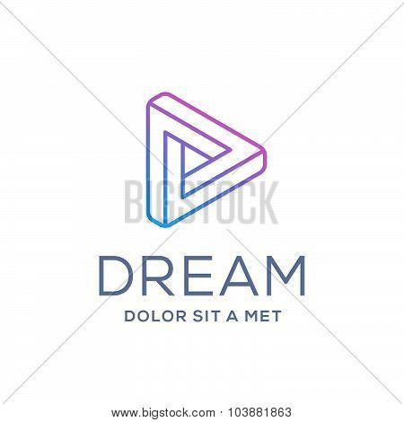 Letter D Arrow Logo Icon Design Template Elements