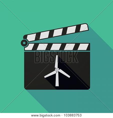Long Shadow Clapper Board With A Wind Generator