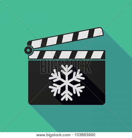 Long Shadow Clapper Board With A Snow Flake