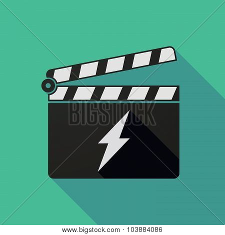 Long Shadow Clapper Board With A Lightning
