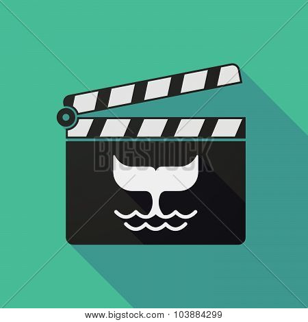 Long Shadow Clapper Board With A Whale Tail