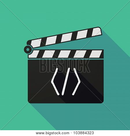 Long Shadow Clapper Board With A Code Sign