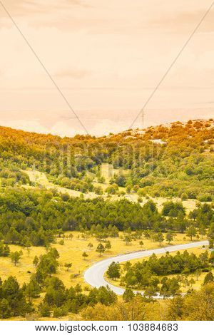Lanscape of mountains on a summer day