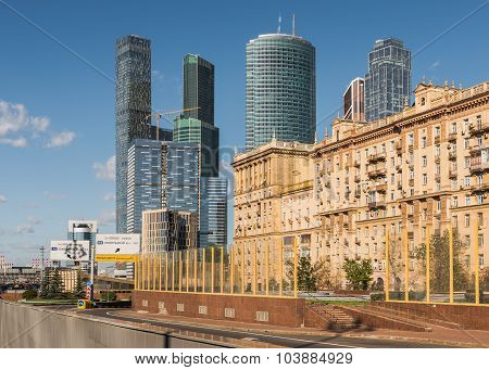 Kutuzovsky Prospekt In Moscow.