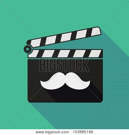 Long Shadow Clapper Board With A Moustache