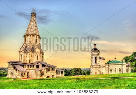 Church Of The Ascension In Kolomenskoye, A World Heritage Site In Moscow