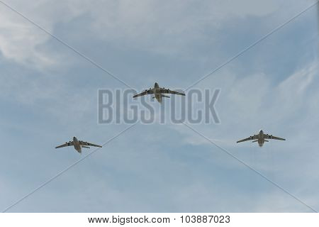 Group Of Airplanes Il-76