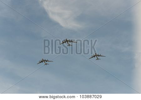 Group Of Airplanes Tu-95