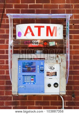NEW YORK CITY, USA - SEPTEMBER, 2014: Typical ATM in New York City