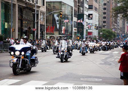 NEW YORK CITY, USA - SEPTEMBER, 2014: Labor Day Parade in New York City
