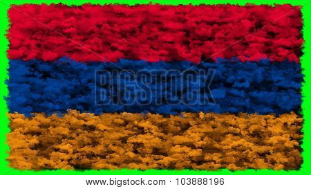 Flag of Armenia, Armenian flag made from clouds.