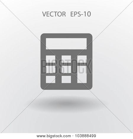 Flat icon of calculator